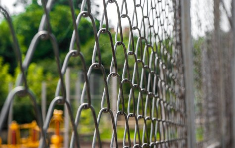 A picture of a Chain link fence
