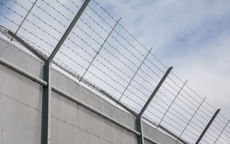 High security Fence around restricted area