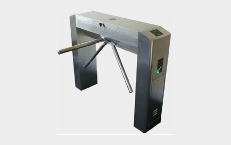A picture of a Metal turnstile