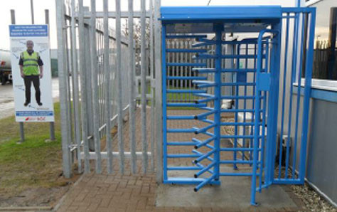 A picture of multifunctional outdoor turnstiles