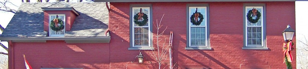 a photo of a house with christmas decorations