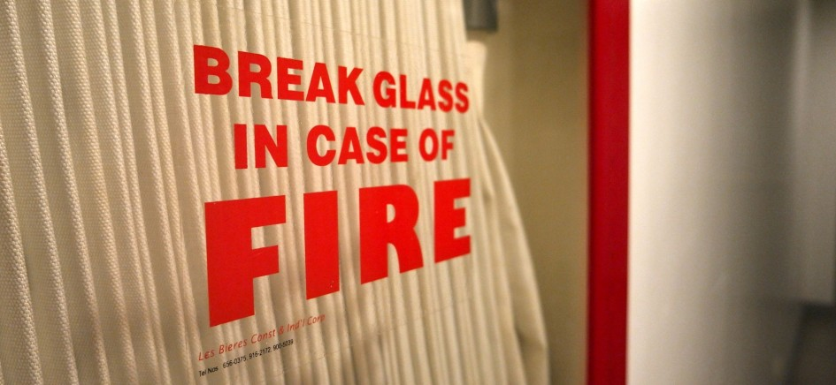 A picture of a fire emergency system