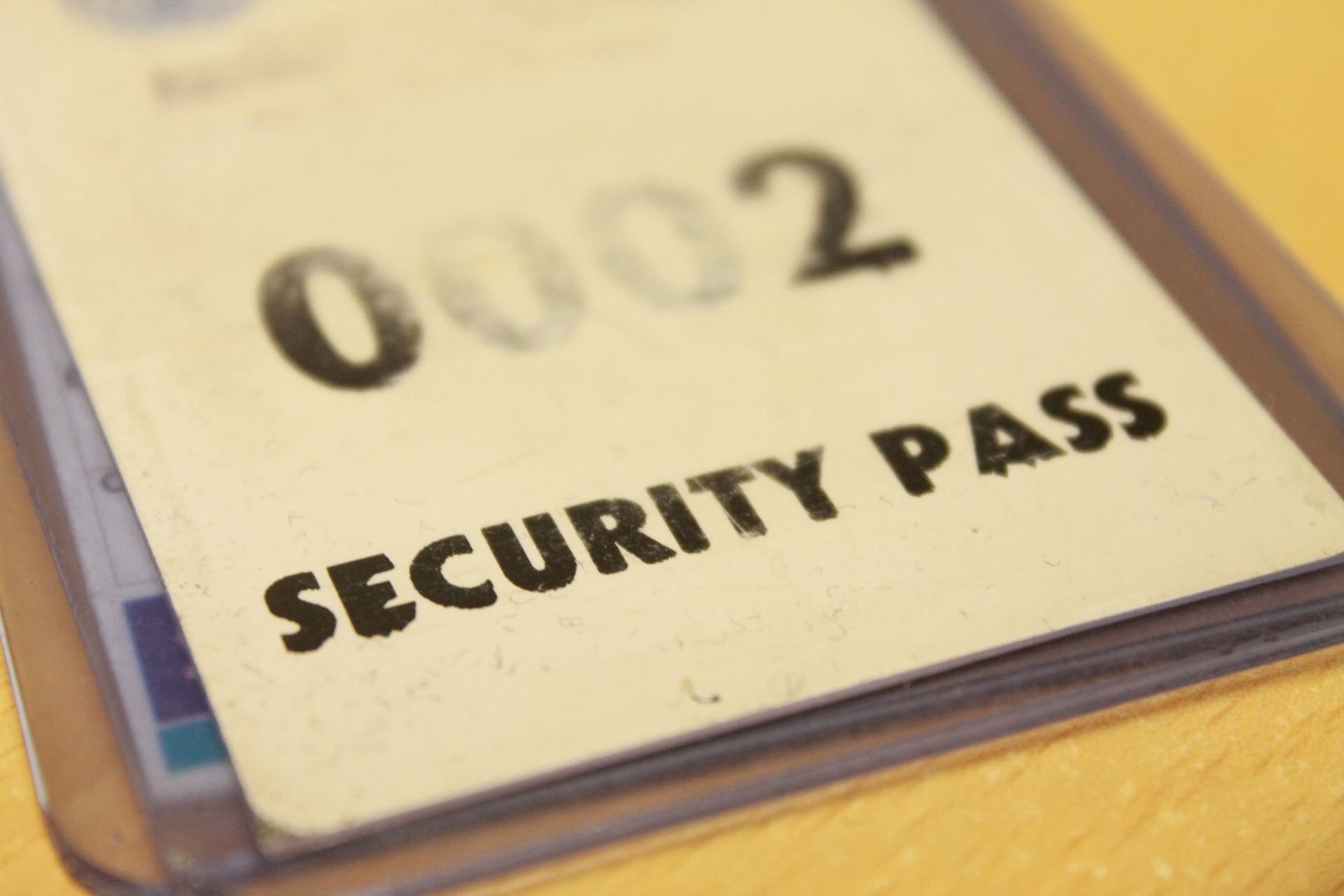 A picture of an ID badge