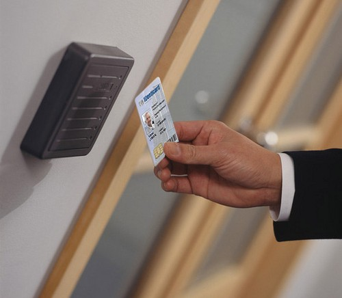 access control swipe card for security