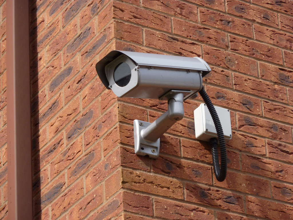 home cctv system on brick house