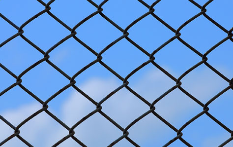 A picture of Chain link fencing
