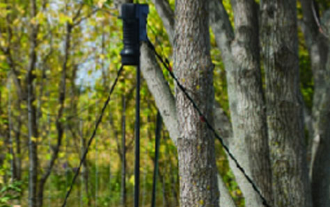 An image of a portable outdoor security sensor