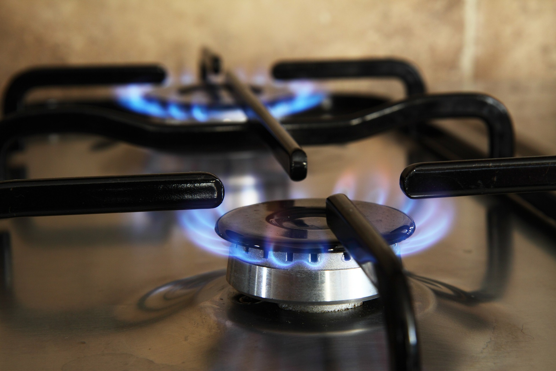 A picture of a gas cooker