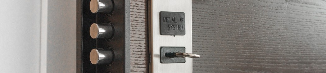 A picture of an office door with lock