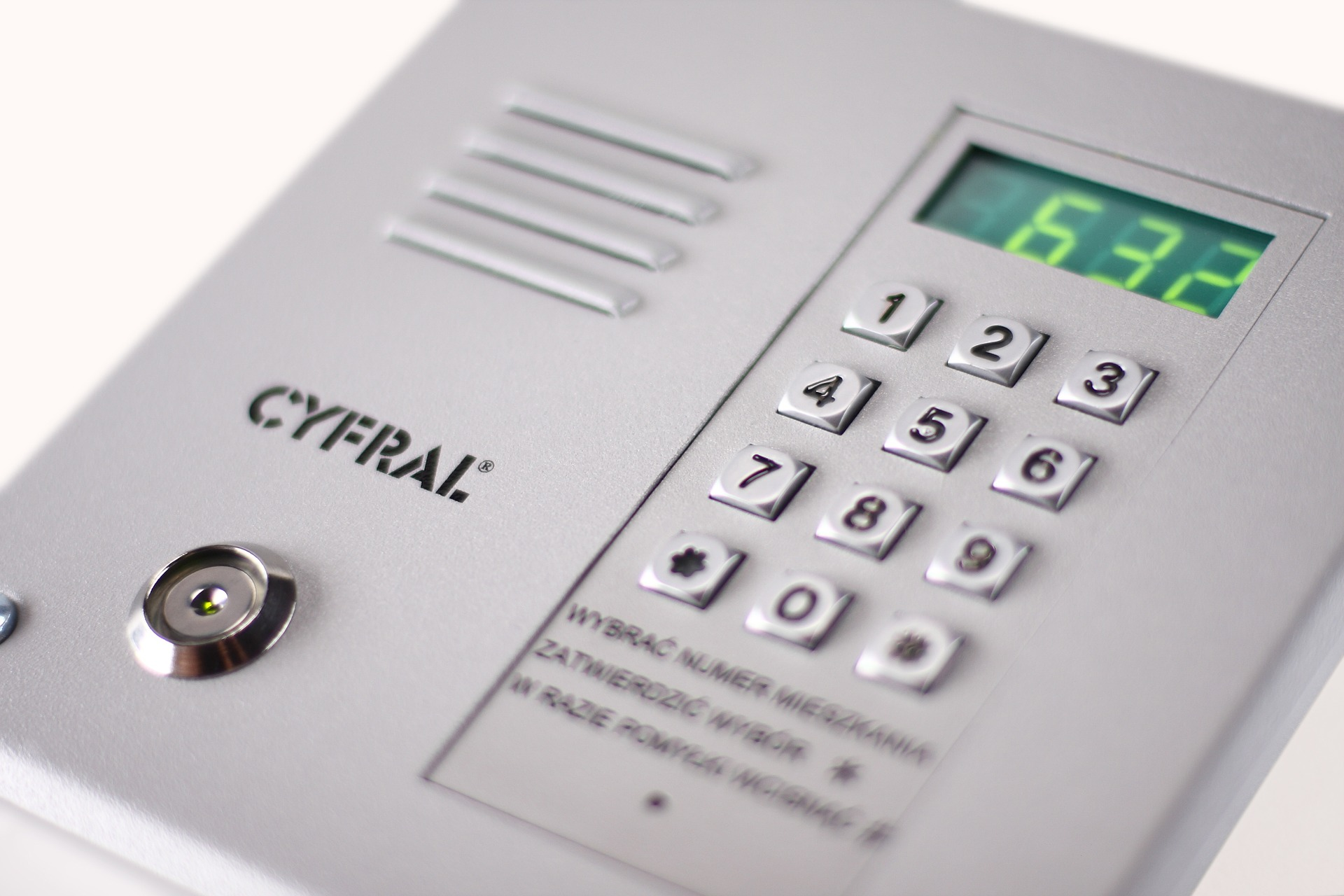 A picture of an alarm control panel
