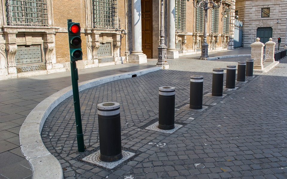 A picture of a parking bollard