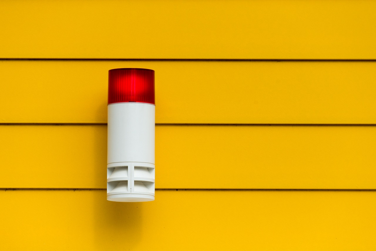A picture of an intruder alarm