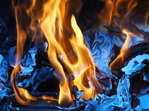 Different Types of Fire - a photo of fire burning from paper