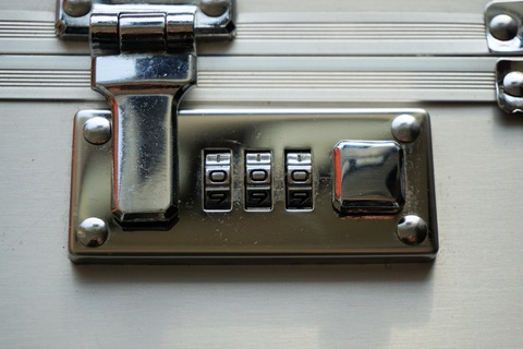 A picture of a locked briefcase - Corporate Security