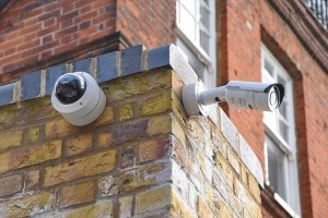 image of a cctv system outside a residential property