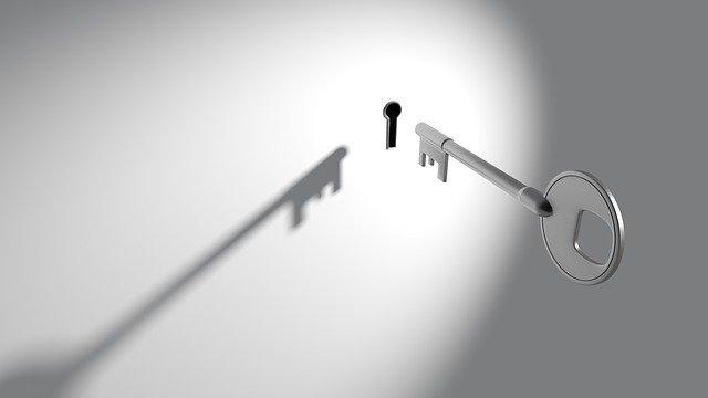 image of a key and a keyhole