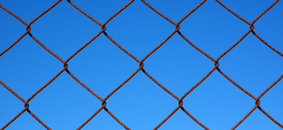 image of wire mesh security fencing