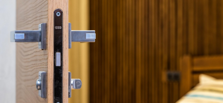 Image of door with fitted lock